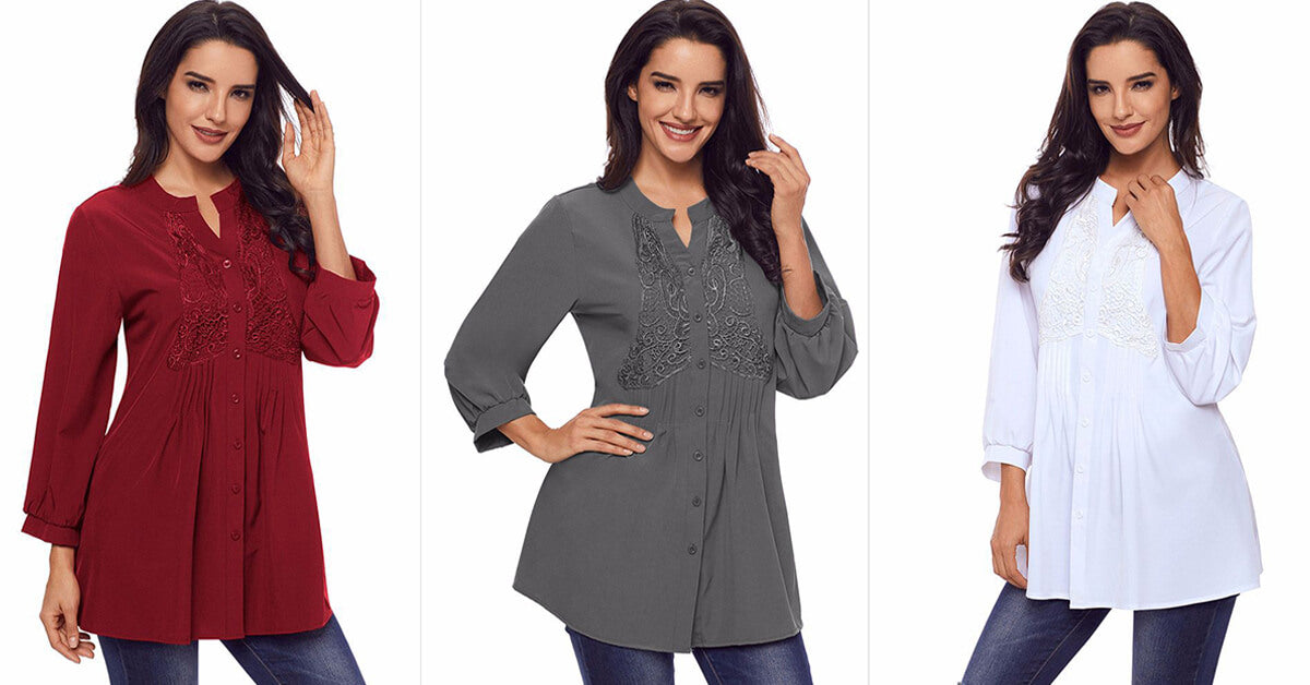 Long Sleeve Casual Blouse Tops