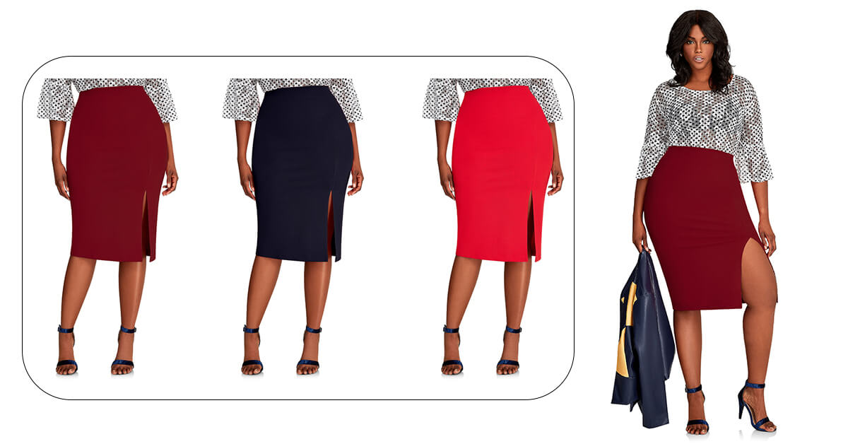 Midi Bandage Split Pencil Skirt