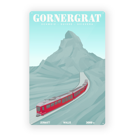 Gornergrat - Metal Sign - 26x40