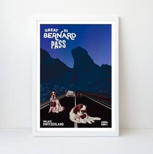 Great St Bernard Pass | 42x59 | 50 pieces Limited edition | Poster-Art