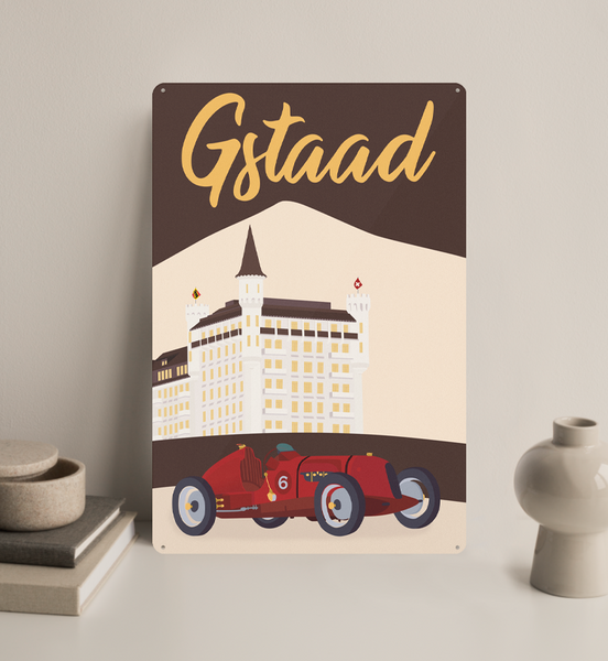 Gstaad - Decorative Metal Sign - 26x40