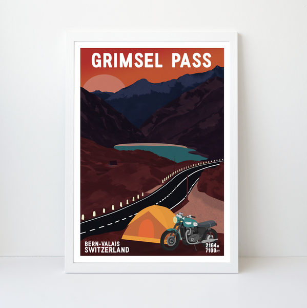 Grimsel Pass | 42x59 | 50 pieces Limited edition | Poster-Art