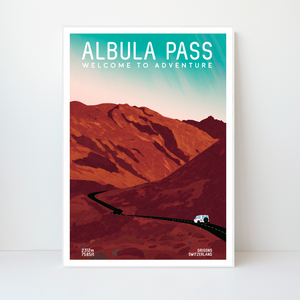 Albula Pass | 42x59 | 50 pieces Limited edition | Poster-Art