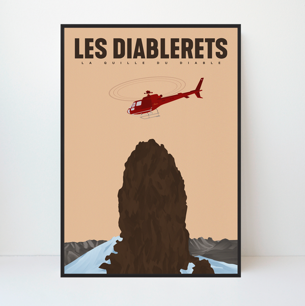 Les Diablerets | La Quille du Diable | 50 pieces Limited Edition | Poster-Art