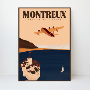 Montreux | Aquila Airways | 50 pieces Limited Edition | Poster-Art