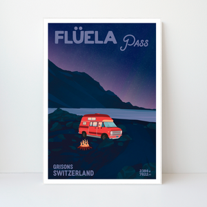 Flüela Pass | 42x59 | 50 pieces Limited edition | Poster-Art