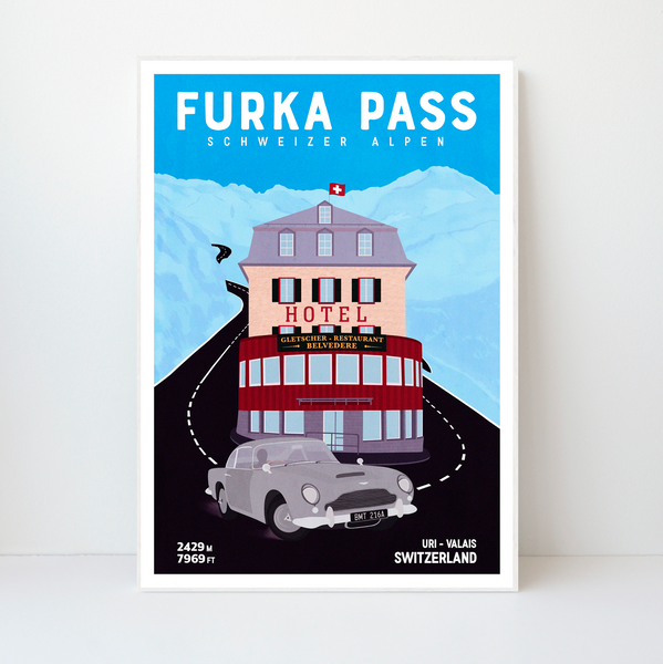 Furka Pass | 42x59 | 50 pieces Limited edition | Poster-Art
