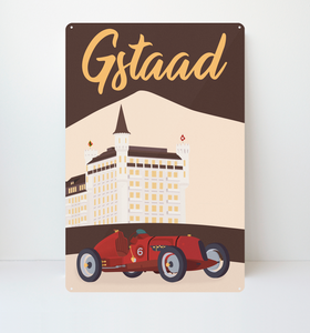 Gstaad - Metal Sign - 26x40