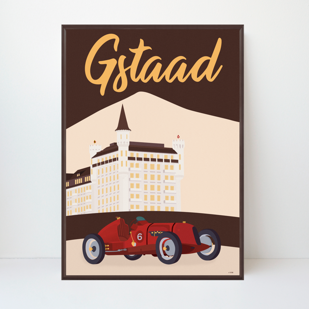 Gstaad Palace | Bentley Anniversary | 89x128 | 25 pieces Limited Edition | Poster-Art