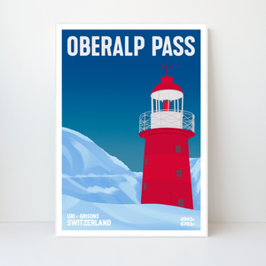 Oberalp Pass | 42x59 | 50 pieces Limited edition | Poster-Art
