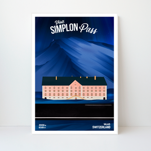 Simplon Pass | 42x59 | 50 pieces Limited edition | Poster-Art
