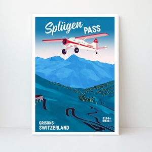 Splügen Pass | 42x59 | 50 pieces Limited edition | Poster-Art