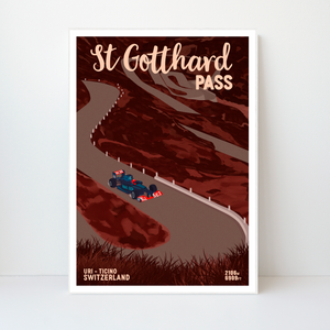 St Gotthard Pass | 42x59 | 50 pieces Limited edition | Poster-Art