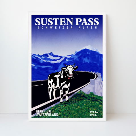 Susten Pass | 42x59 | 50 pieces Limited edition | Poster-Art