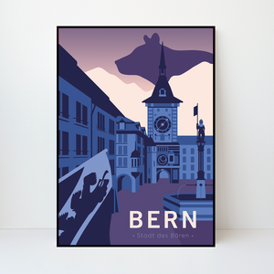 Bern | Stadt des Bären | 50 pieces Limited Edition | Poster-Art