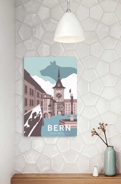 Bern - Metal Sign - 26x40