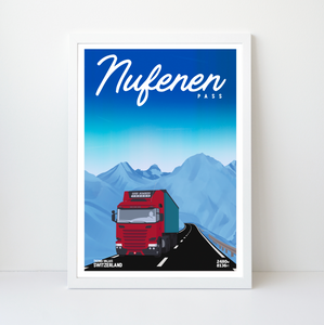 Nufenen Pass | 42x59 | 50 pieces Limited edition | Poster-Art
