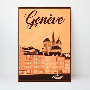 Genève | Place du Bourg-de-Four | 50 pieces Limited Edition | Poster-Art