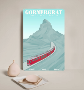 Gornergrat - Decorative Metal Sign - 26x40