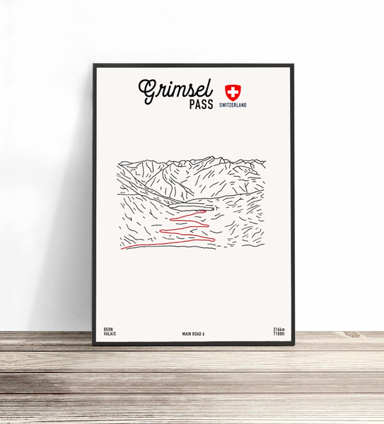 Swiss Legendary Drives | Route Prints | Collection