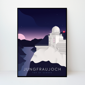 Jungfraujoch | Top of Europe | 50 pieces Limited Edition | Poster-Art