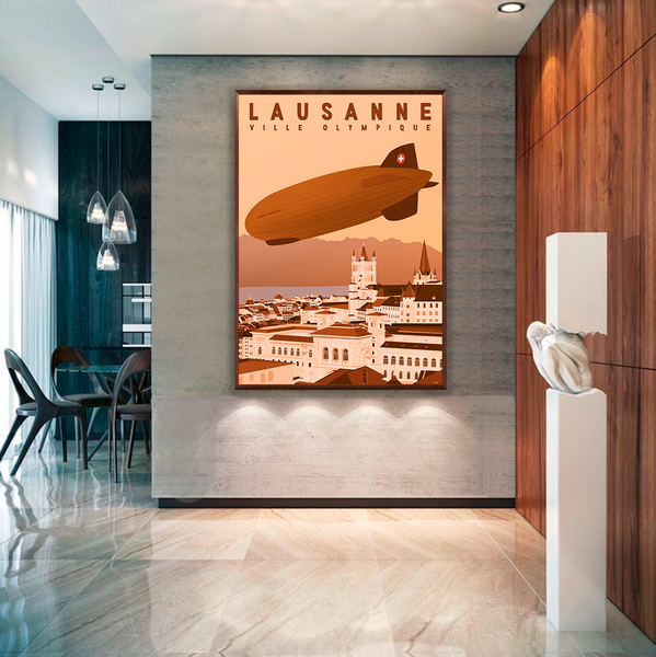 Lausanne | Zeppelin | Ville Olympique | 50 pieces Limited Edition | Poster-Art
