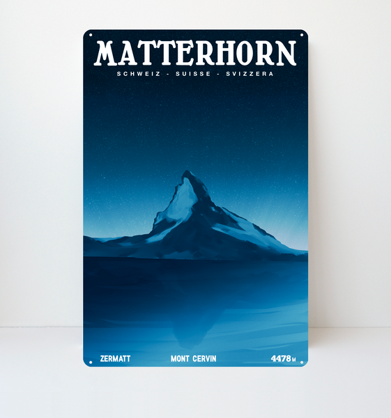 Matterhorn - Decorative Metal Sign - 26x40