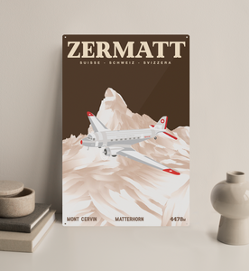 Zermatt - Decorative Metal Sign - 26x40