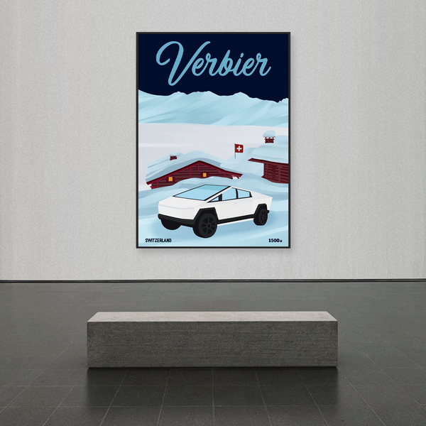 Verbier | Tesla Cybertruck | 25 pieces Limited Edition | Poster-Art