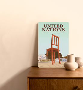 United Nations - Decorative Metal Sign - 26x40