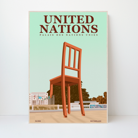 United Nations | Palais des Nations Unies | 50 pieces Limited Edition | Poster-Art