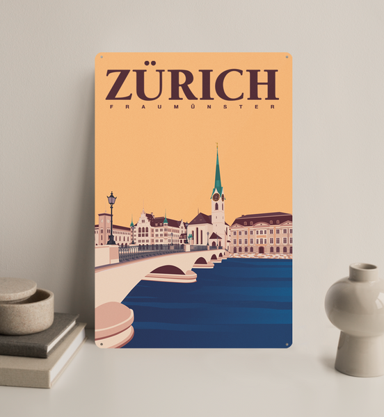 Zürich - Decorative Metal Sign - 26x40
