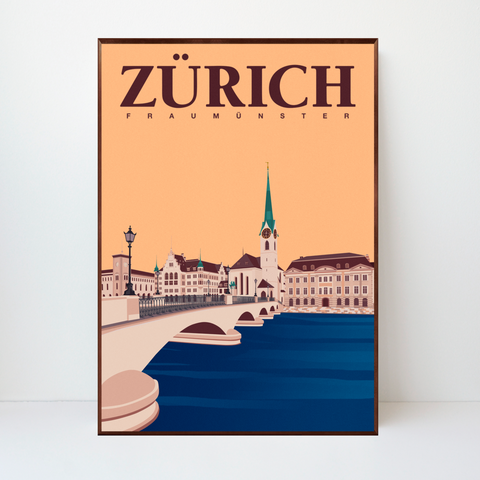 Zürich | Fraumünster | 50 pieces Limited Edition | Poster-Art
