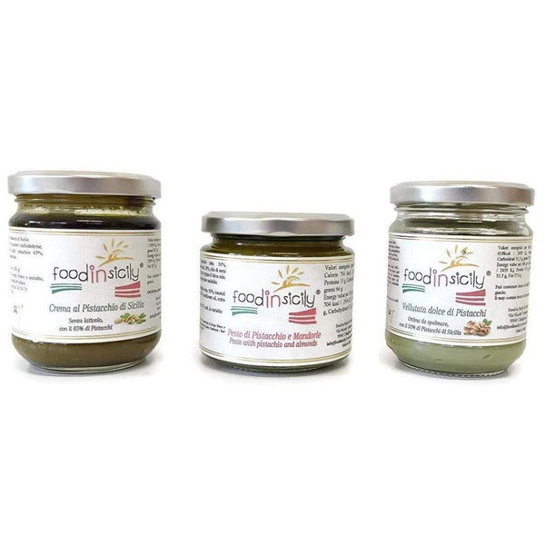 Tris al Pistacchio di creme e pesto Pack dispensa food-in-sicily.myshopify.com