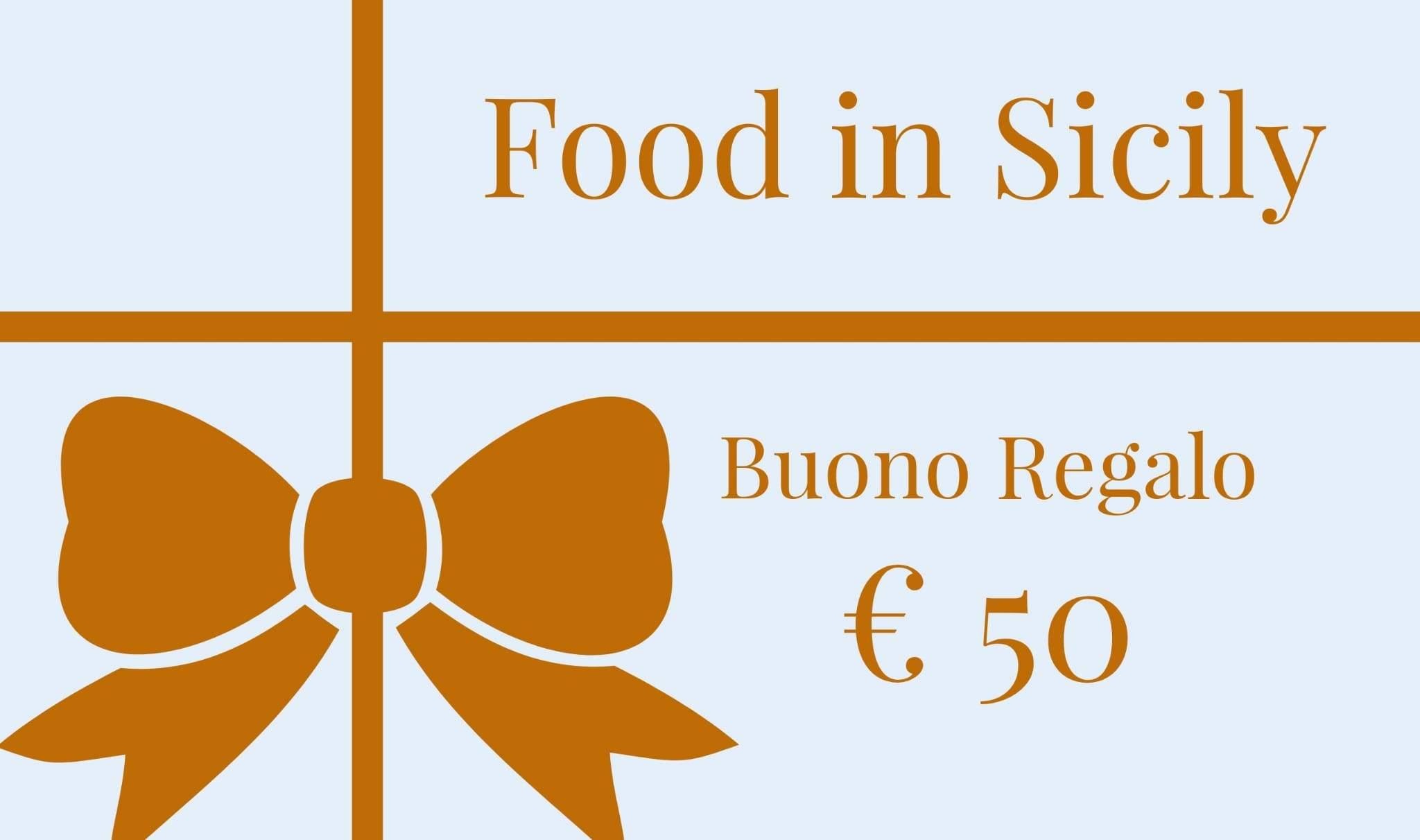 Buono Regalo Food in Sicily - Food in Sicily
