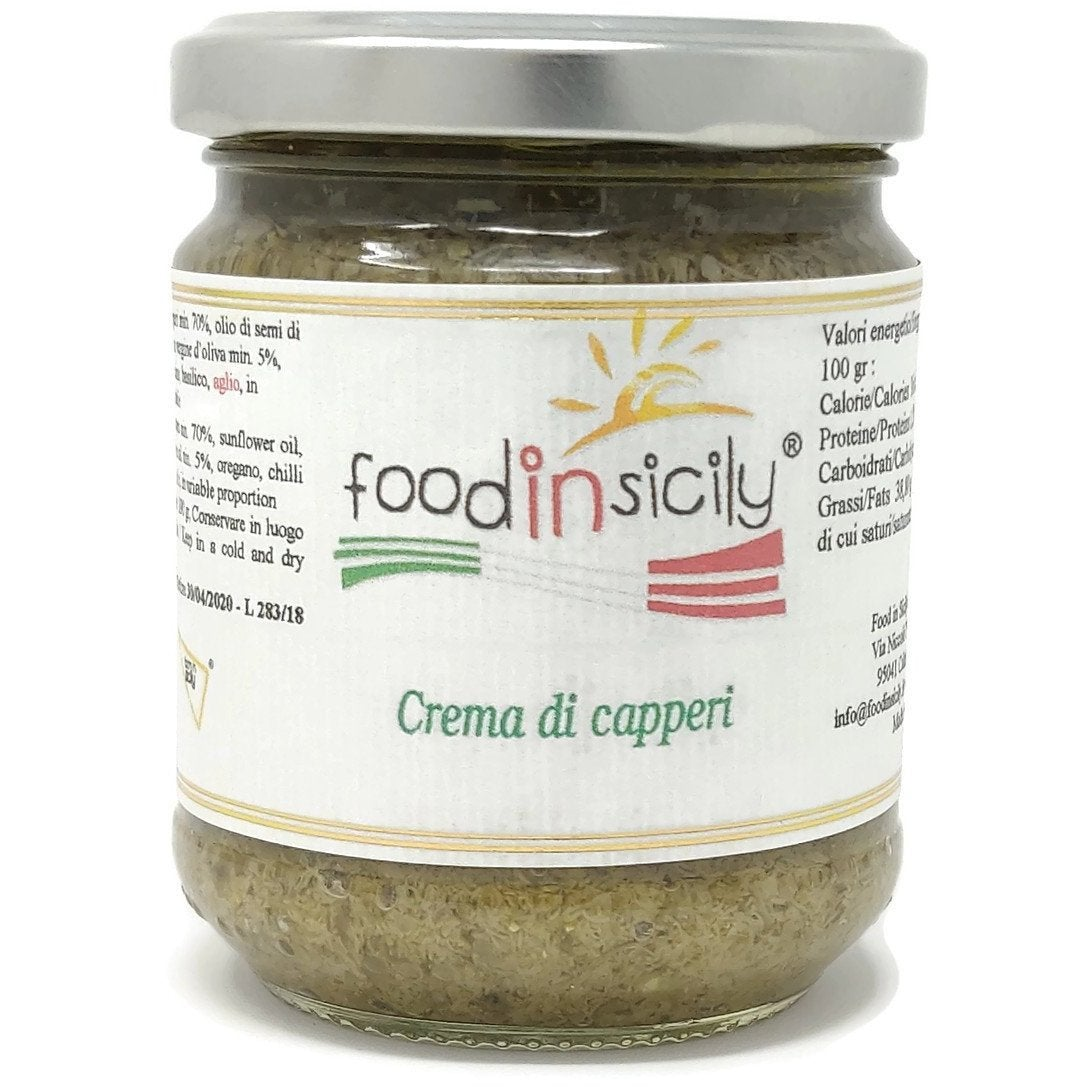 Crema di capperi, 190 grammi - Food in Sicily