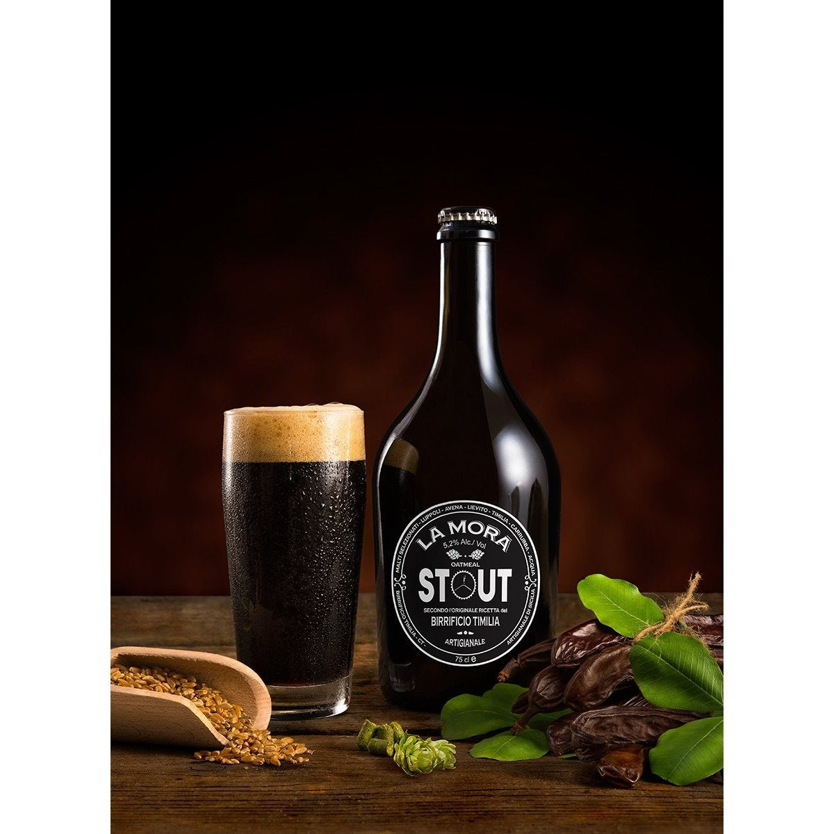 Birra Siciliana La Mora Stout - Food in Sicily