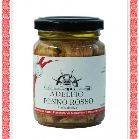 Tonno Rosso pinne gialle in olio d'oliva.