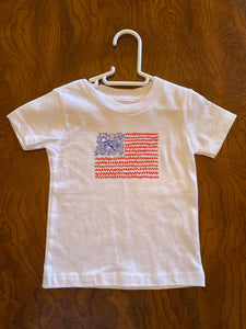 12-18M Floral USA Flag (Ready To Ship)