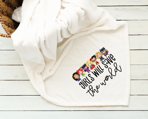 Girls Will Save The World Superheroes Blanket