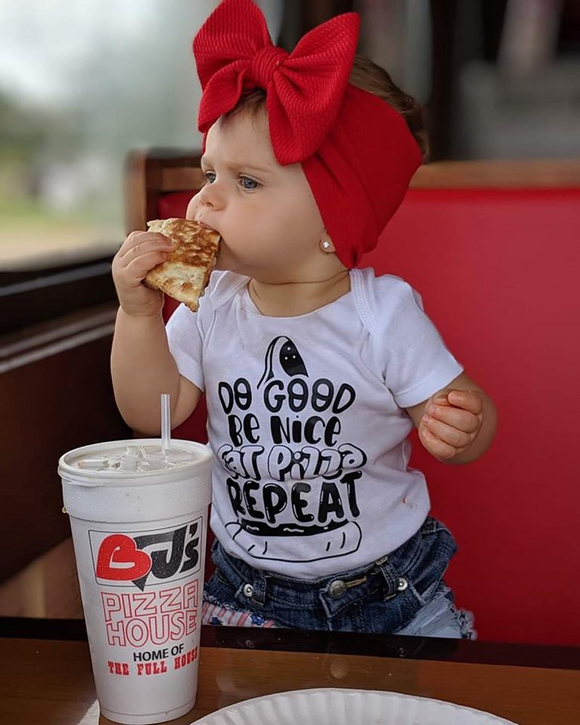 Do Good Be Nice Eat Pizza Repeat Shirt