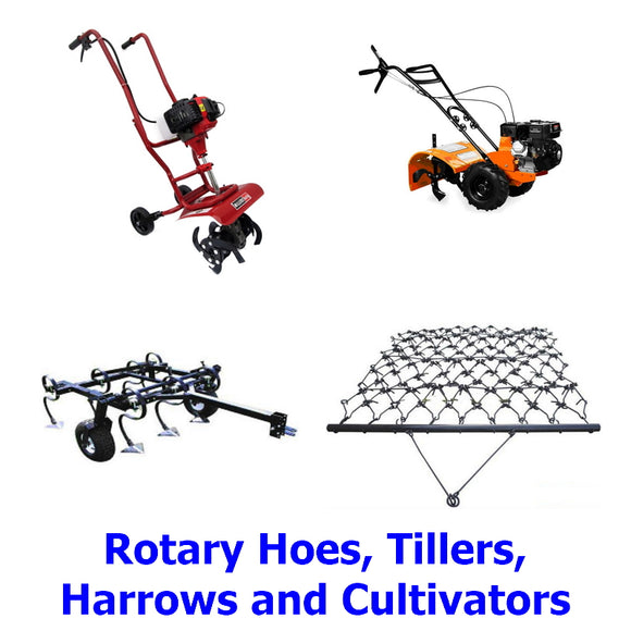 Garden Rotary Hoes & Tillers, Harrows and Cultivators