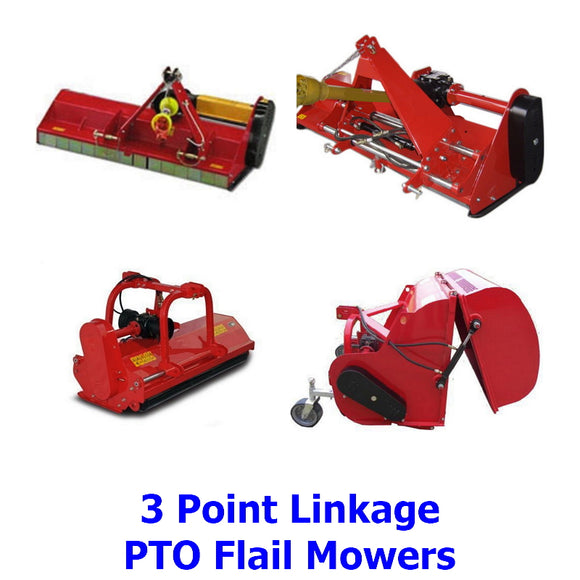 Brush Cutters and PTO Flail Mowers. A collection of top quality 3 Point Linkage, PTO powered brush cutters and flail mowers designed farmers and the serious professional landscaper or gardener