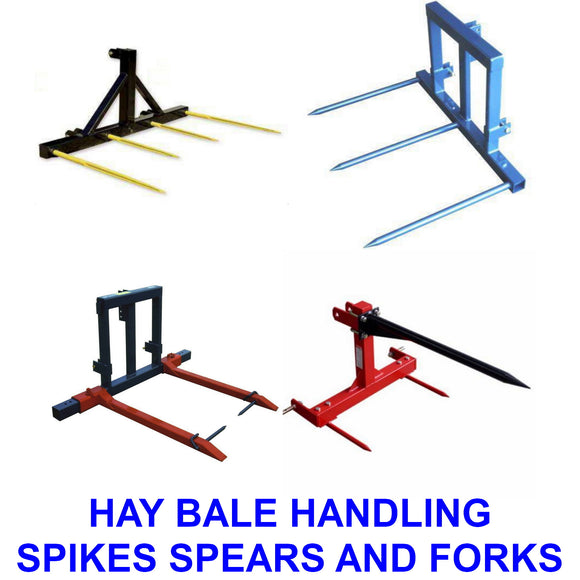 Hay Bale Spears, Spikes and Forks