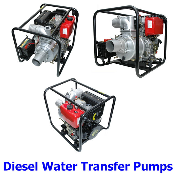 Diesel Engine Water Transfer Pumps. A collection of quality Millers Falls TWM diesel engined water transfer pumps to move water quickly and easily.