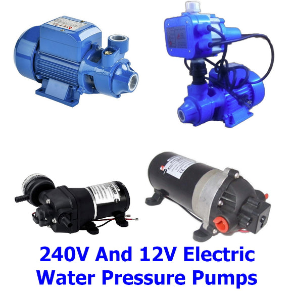 Electric Water Pressure Pumps. A collection of quality Millers Falls TWM 240 volt and 12 volt electric water pressure pumps for your tank, boat RV, caravan and anywhere else that you may need running water.