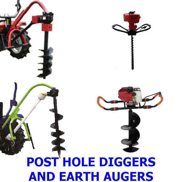 Earth Augers & Post Hole Diggers. A collection of quality Millers Falls hand held and PTO post hole diggers and earth augers for farming, landscaping, building, fencing and any job that needs holes dug quickly and easily.