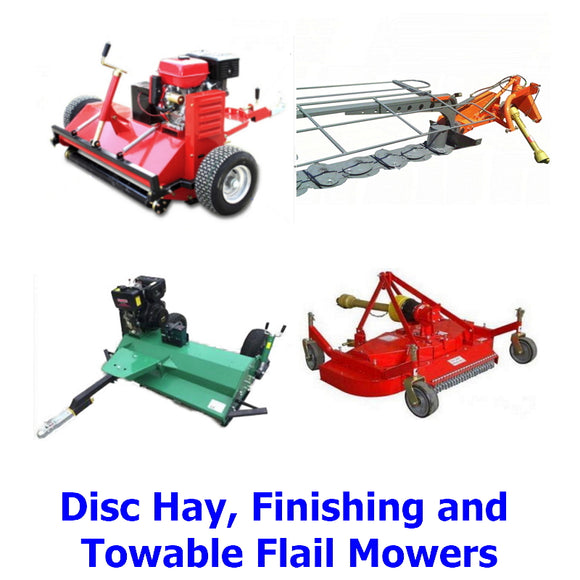 Disc Hay, Finishing and Towable Flail Mowers. A collection of awesome special purpose mowers designed for farm, garden and landscape use.