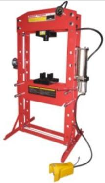 TWM Millers Falls 75 Ton HD Air Hydraulic Shop Press with Foot Valve and Sliding Head #PRESALR75T 1