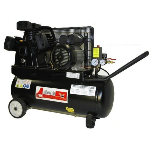 Millers Falls ACB30501AB 3HP 50 Litre Belt Driven Electric Air Compressor 1